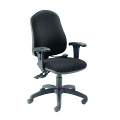FR First High Back Posture Chair with Adjustable Arms Black