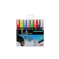Uni-Ball UniChalk Chalk Marker Medium Asstd Pk8