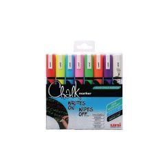 Uni-Ball UniChalk Chalk Marker Medium Asstd Pk8