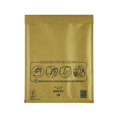Mail Lite Bubble Lined Postal Bag Size H/5 270x360mm Gold (50 Pack)