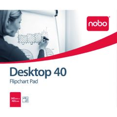 Nobo Feint Ruled Flipchart Pad 584x485mm 40 Sheet Pk5