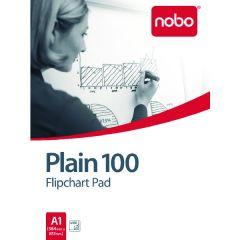 Nobo Plain Flipchart Pad A1 100 Sheet Pk2