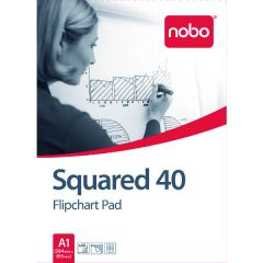 Nobo Squared Flipchart Pad A1 40 Sheet Pk5