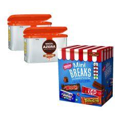Nescafe Azera Americano Coffee 2 x 500g plus a free box of Nestle Mini Breaks
