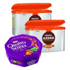 Nescafe Azera 500g (2 Pack) FOC Quality Street 650g