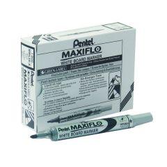 Pentel Maxiflo Black Bullet Marker Pk12