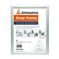 Announce Aluminium Snap Frame A3