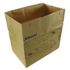 Rexel Brown Recyclable Paper Shredder Bags Pk50