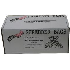 Safewrap Shredder Bag 200 Litre Pk50