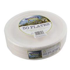 Super Rigid 9 Inch Biodegradable Plate Pk50