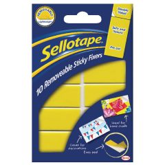 Sellotape Sticky Fixers Removable Pads 20 x 40mm Pk10