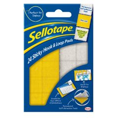 Sellotape Sticky Hook and Loop Pads (24 Pack)