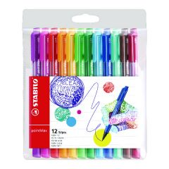 Stabilo Point Max Fineliner Pen Assorted (12 Pack)