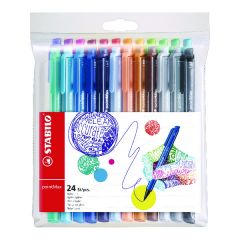 Stabilo Point Max Fineliner Pen Assorted (24 Pack)