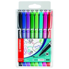 Stabilo Sensor Fineliner Medium Point Assorted (8 Pack)