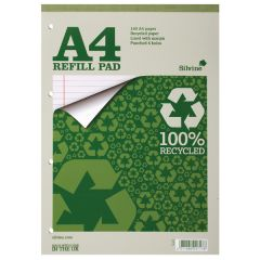 Silvine Everyday Recycled Ruled Refill Pad A4 Pk6