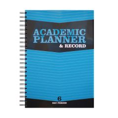 Silvine Academic Planner and Record A4 Blue