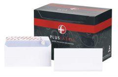 DL White Envelopes Plus Fabric 110gsm Peel & Seal 500's
