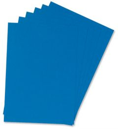Binding Covers Leathergrain Pack of 100 Blue A4