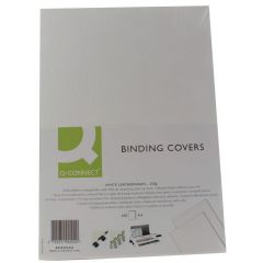 Binding Covers Leathergrain Pack of 100 White A4