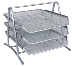 3-Tier Letter Tray Silver
