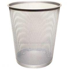 Waste Basket Mesh Silver 18lt