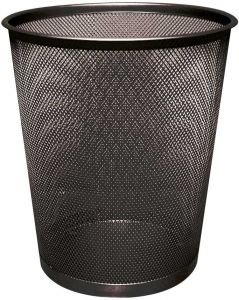 Waste Basket Mesh Black 18lt