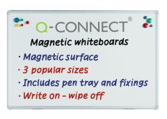 Drywipe Magnetic Whiteboard Q Connect 1200x900mm