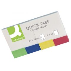 Quick Tabs 20x50mm Transparent Pack of 4x40