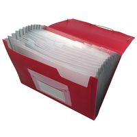 Expanding File 13 Pocket Red