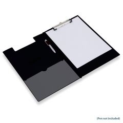 Q Connect PVC Foldover Clipboard Foolscap/A4 Black