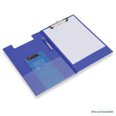 Q Connect PVC Foldover Clipboard Foolscap/A4 Blue