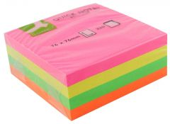 Q Connect Quick Note Cube 75x75mm Neon