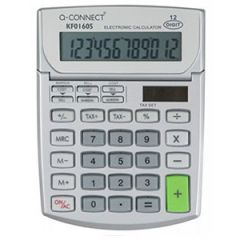 Q Connect Semi-Desktop Calculator 12-digit