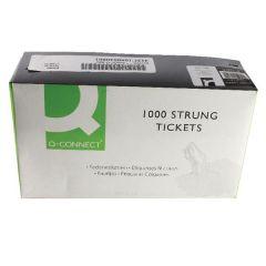 White 70x44mm Strung Ticket Pk1000