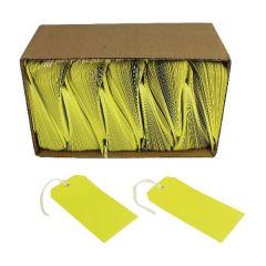 Yellow 120x60mm Strung Tag Pk1000's