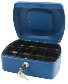 Cash Box 6 inch Blue