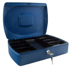 Cash Box 12 inch Blue