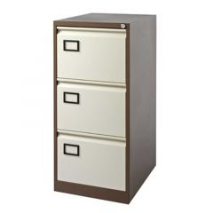 Filing Cabinet 3 Drawer Coffee/Cream