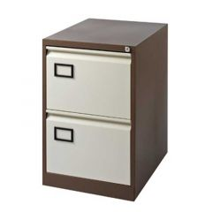 Filing Cabinet 2 Drawer Coffee/Cream