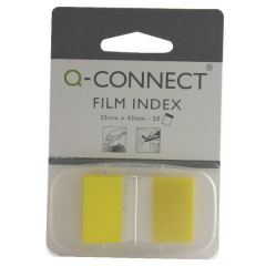 Transparent Page Markers Yellow 25mm Pack 50