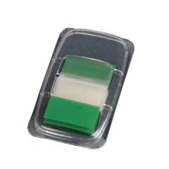 Transparent Page Markers Green 25mm Pack 50