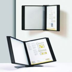 Q-Connect Quick Finder Metal Desk/Wall Stand Bk