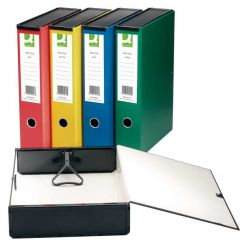 Q Connect Box File Foolscap Green Boxed 5's