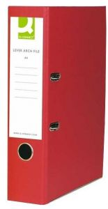 Lever Arch File Foolscap Paper-Backed Red Box 10's