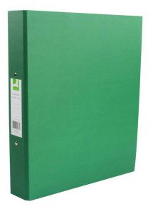 2-Ring Binder A4 25mm Paper-Backed Green 10's