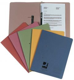 Transfer File Foolscap/A4 35mm Capacity Pink