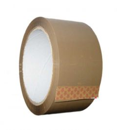 Q-Connect Packaging Tape Buff 50mm x66 Metres Pack 6