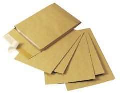 C4 Gusset Envelope C4x25mm Manilla Peel and Seal Pack of 100 KF3527