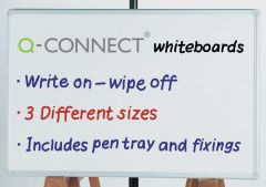 Drywipe Whiteboard Q Connect 1800x1200mm